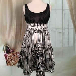 Sequin Hearts Black and Silver Sleeveless Dress